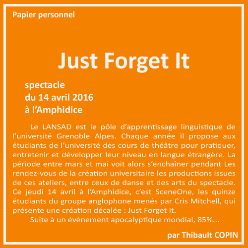 Just Forget It par Thibault Copin