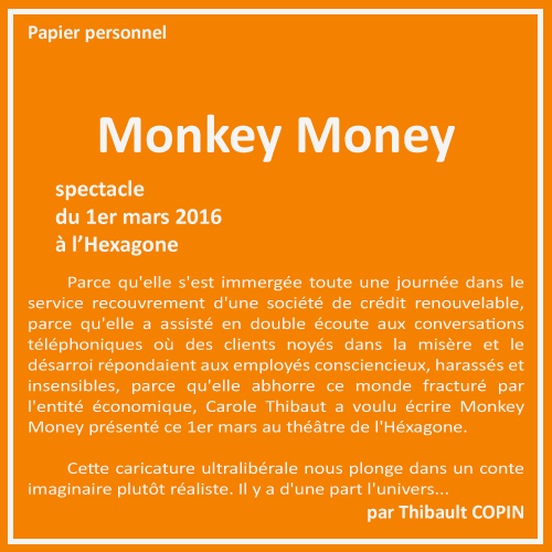 Monkey Money par Thibault Copin