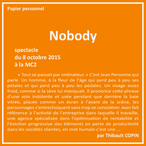 Nobody par Thibault Copin